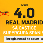 Cota 4 pentru ca Real Madrid sa castige Supercupa Spaniei