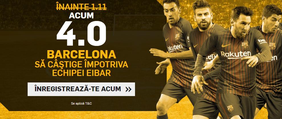 Super cota pentru Barcelona in meciul cu Eibar