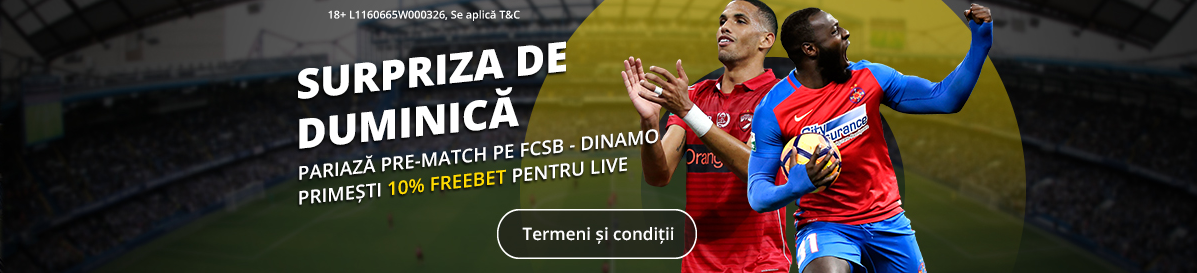 Castiga un bonus la FCSB vs Dinamo