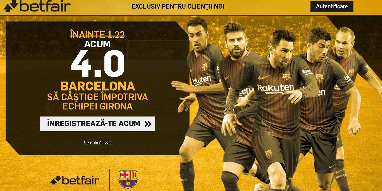 Cota 4.00 pentru Barcelona in partida cu Girona