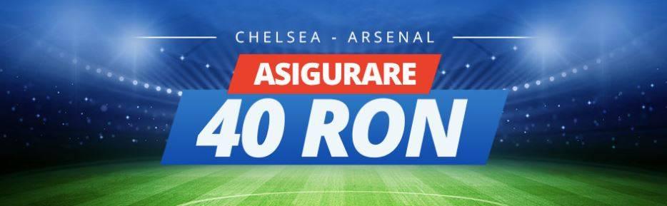 Chelsea vs Arsenal: pariaza 40 RON fara risc