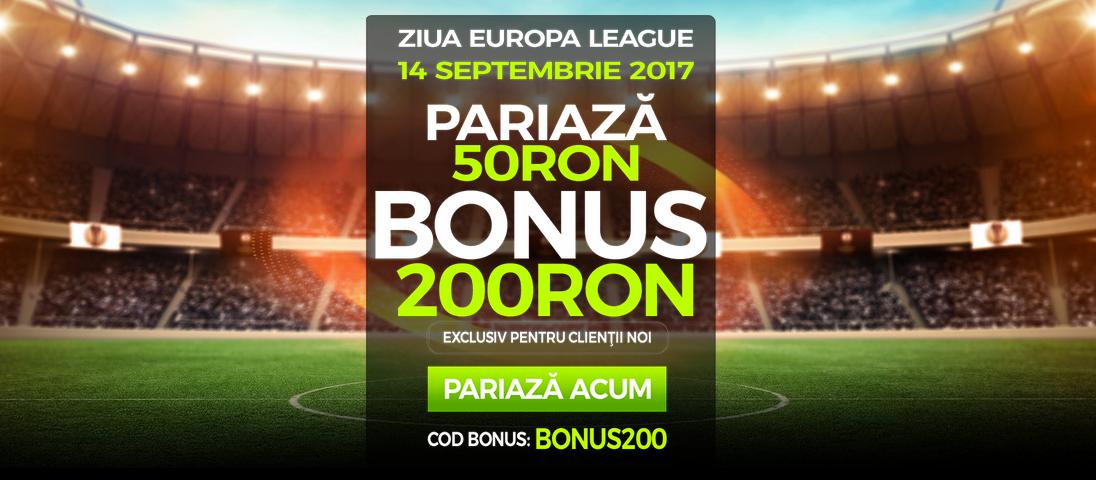 400% bonus daca pariezi pe Europa League