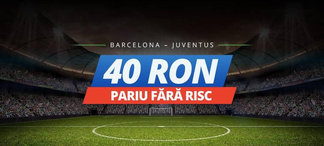 Pariaza fara risc pe meciul Barcelona – Juventus