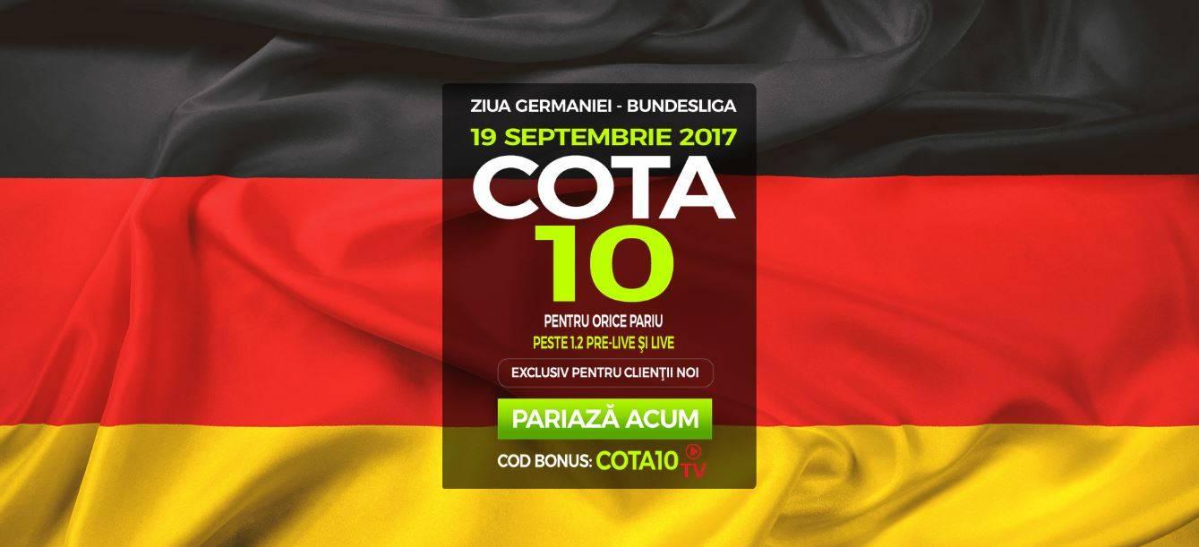 Cota 10 pentru orice pariu din Bundesliga