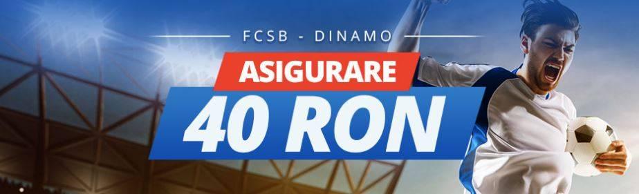 40 RON pariu fara risc la FCSB vs Dinamo