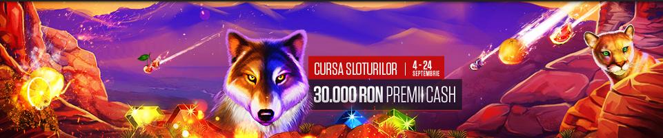 Premii totale de 30000 RON la jocuri slot