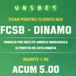 Cota fabuloasa pentru un pariu simplu in FCSB – Dinamo