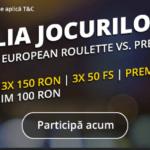 Jocurile de ruleta si blackjack iti aduc 300 RON
