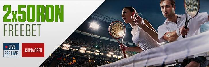 Obtine doua bonusuri la China Open