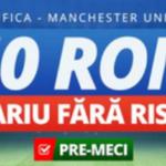 Obtine un pariu fara risc la Benfica vs Manchester United