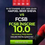 Cota fabuloasa pentru gol FCSB impotriva lui Hapoel Beer Sheva