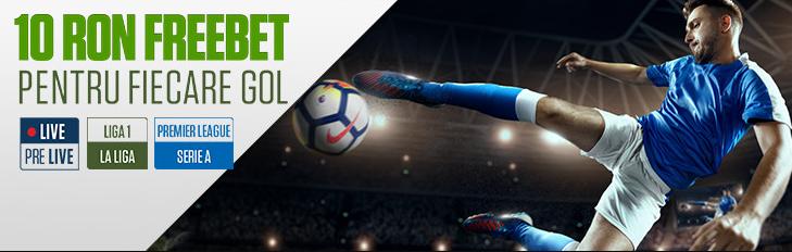 Castiga 10 RON pentru fiecare gol marcat in ligile europene