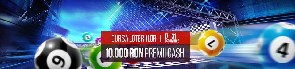 In octombrie ai cursa loteriilor cu premii de 10000 RON