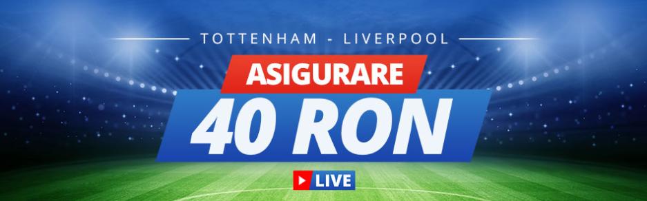 Asigurare la pariuri live pentru Tottenham vs Liverpool