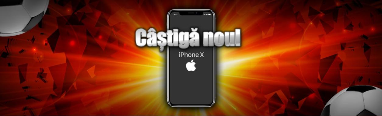 Castiga un iPhone X prin tragere la sorti