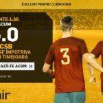 FCSB vs Poli Timisoara iti poate aduce 200 RON bonus