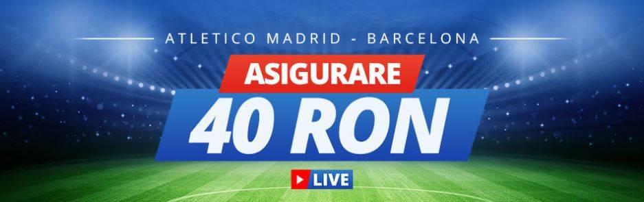 Pariaza cu asigurare pe derby-ul Atletico Madrid vs Barcelona