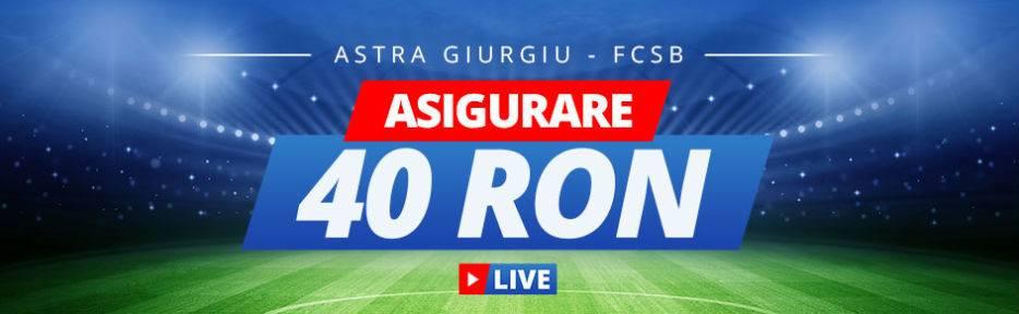 Castiga un bonus de 40 RON la Astra vs FCSB