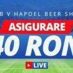 Pana la 40 RON inapoi pentru pariurile Live pe FCSB vs Hapoel