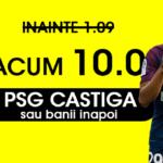 Cota 10 pentru victoria PSG-ului sau banii inapoi