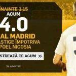 Pariaza la cota 4.00 pe Real Madrid in partida cu Apoel
