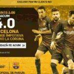 Cota 4.00 pentru victoria Barcelonei in meciul cu La Coruna