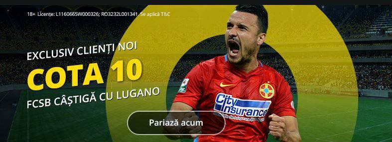 Pariaza pe FCSB in partida cu Lugano la cota 10.00