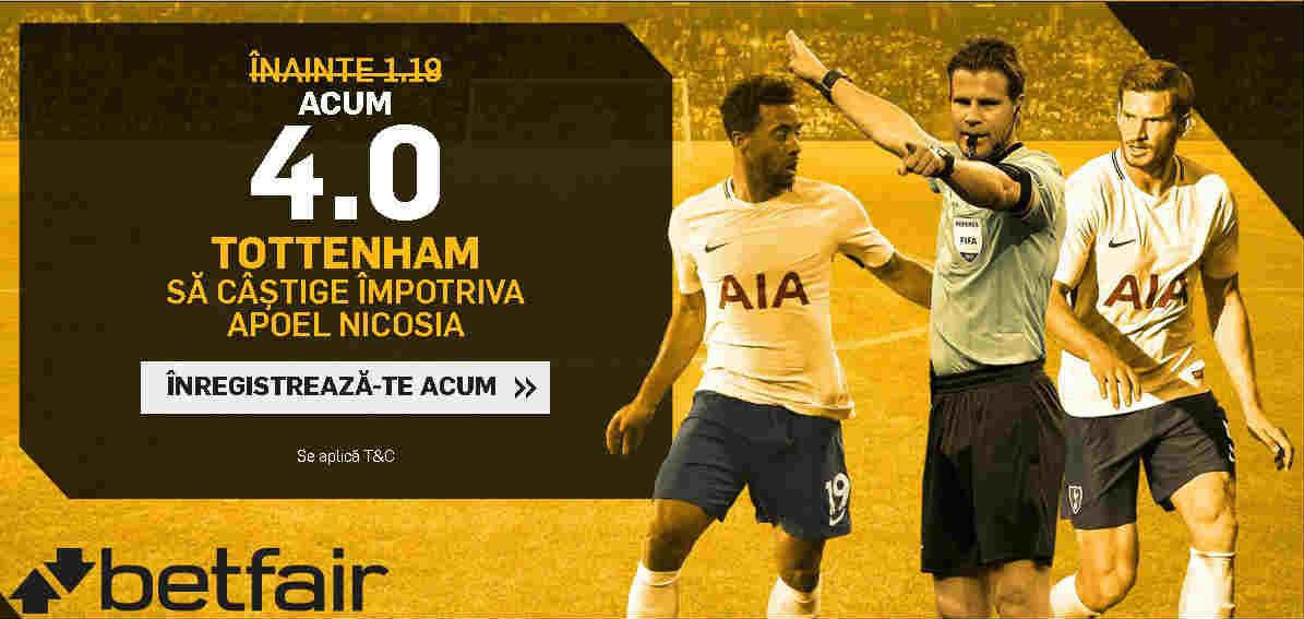Cota 4.00 pentru Tottenham impotriva lui Apoel