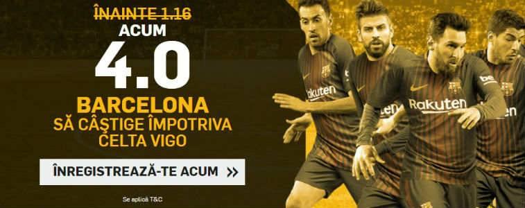 Cota marita pentru victoria Barcelonei impotriva Celtei Vigo