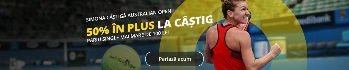 Castiga mai mult daca Halep se impune la Australian Open