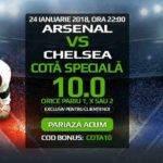 Cota 10.00 pentru orice rezultat final al semifinalei Arsenal vs Chelsea