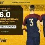 Cota 6.00 pentru PSG in meciul cu Dijon