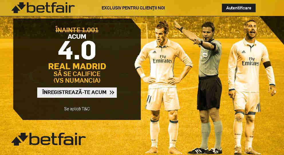 Pariaza pe Real Madrid la cota 4.00 in loc de 1.001
