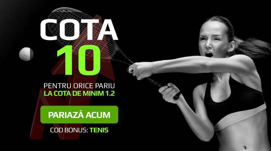 Pariurile pe tenis iti aduc 400 RON bonus sau dublul mizei inapoi