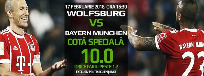Cota 10 pentru orice pariu in Wolfsburg – Bayern Munchen