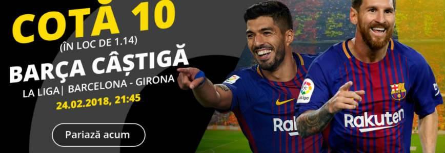Barcelona are cota 10 la victorie pe teren propriu