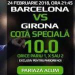 Pariaza pe rezultatul final la cota 10 in Barcelona-Girona