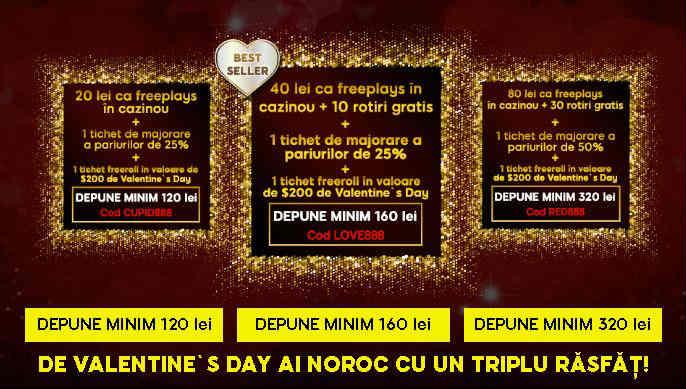 Depune la 888 de Valentine's Day si primesti 3 cadouri