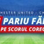 Rambursare 20 RON la partida de fotbal dintre Manchester United si Chelsea