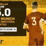 Mizeaza pe Bayern in partida cu Besiktas din UCL la o cota speciala: 15.00