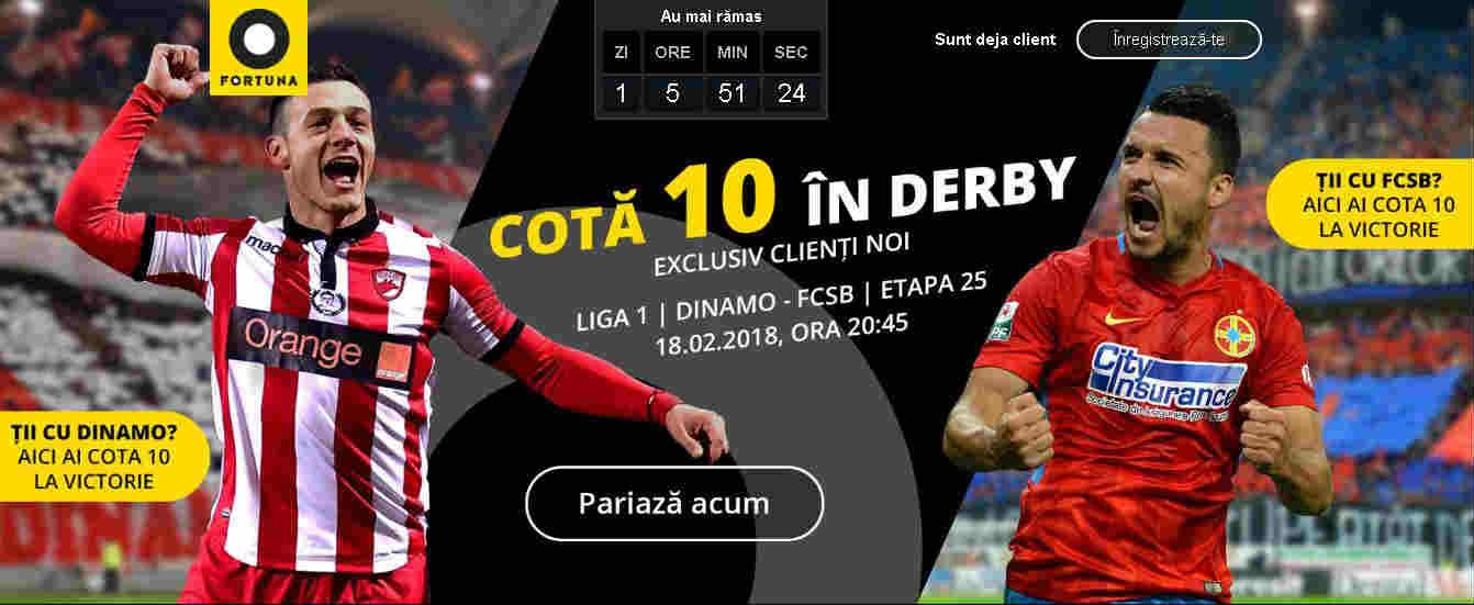 Ai cota 10.00 indiferent pe cine pariezi in Dinamo vs FCSB