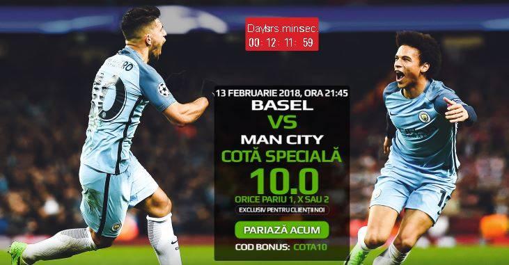 FC Basel vs Manchester City: cota 10.00 pentru orice rezultat final