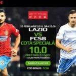 Cota 10.00 pentru orice rezultat final al meciului Lazio vs FCSB