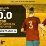 Pariaza la cota 30.00 pe FCSB in partida cu Dinamo