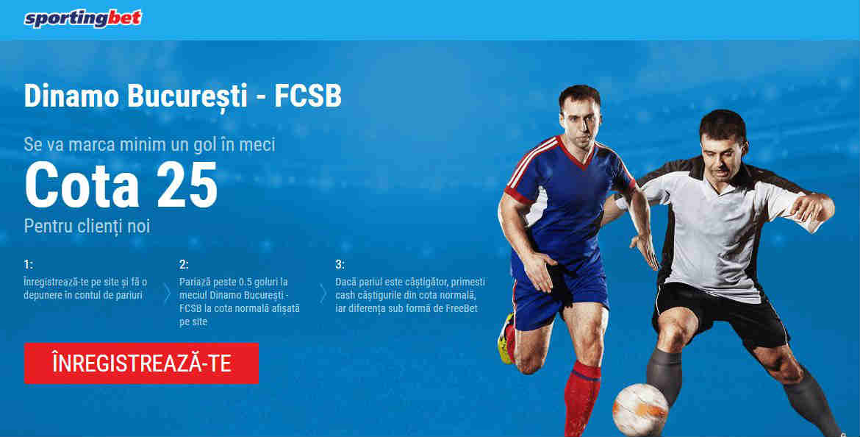 250 RON pentru un gol marcat in Dinamo vs FCSB