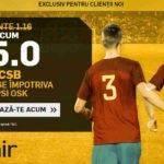 Cota 15.00 pentru FCSB in meciul cu Sepsi