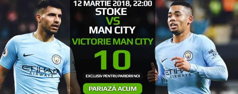Pariaza la cota 10 pe victoria lui Manchester City