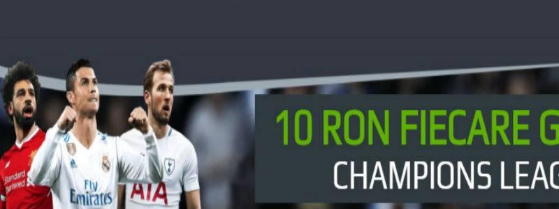 Fiecare gol din Champions League iti aduce un bonus