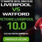 Liverpool are cota 10 pentru a castiga pe teren propriu