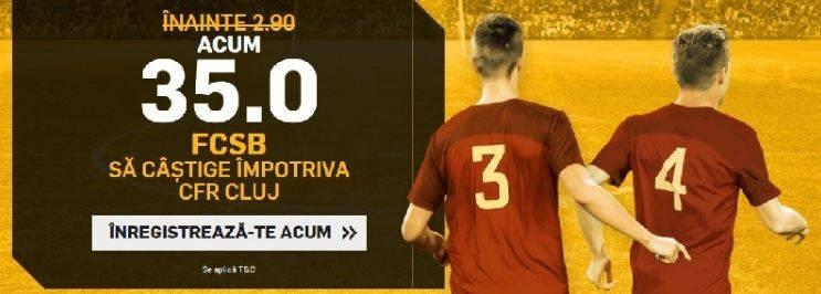 Cota 35.00 pentru FCSB in derby-ul cu CFR Cluj